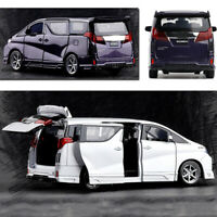 1/32 Mini Diecast Pull Back Car For Toyota Alphard Model With Light Music Toy Or