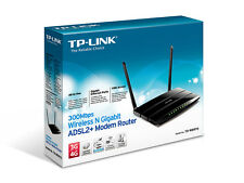 TP-LINK TD-W8970 MODEM ROUTER GIGABIT ADSL2+ WIRELESS N 300Mbps USB NERO NUOVO