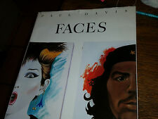 New listing Faces by Paul Davis 1985 Hardcover with Dust Jacket Illustrated Art Vonnegut