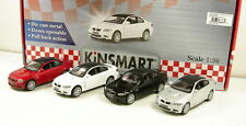 "Brand New 5"" Kinsmart BMW M3 Coupe E92 Diecast Model Toy Car 2Door 1:36 SET OF 4"