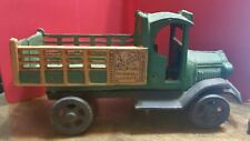 Vintage Metal Malatesta & Sons Green Cast Iron Truck