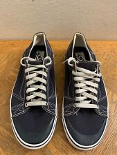 VANS La Cripta Omar Hassan Canvas Skateboard Blue Sneakers Men's Size 9.5