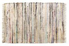 Sturbridge 4' x 6' Rag Area Rug, Neutral Stone Color, Hand Woven, 100% Cotton