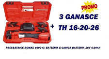 PRESSATRICE A BATTERIA ROTHENBERGER 18V 4Ah MULTISTRATO RAME ART. ROMAX 4000