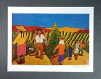 Vintage Signed Print Puerto Rican Artist Frank Diaz Escalet 1992 Puerto Rico