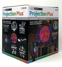LED Lightshow Projection Plus Kaleidoscope + Silhouette w/ 6 Christmas Scenes