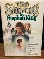 1977 Hardcover Horror Book THE SHINING By Stephen King Book Club Edition