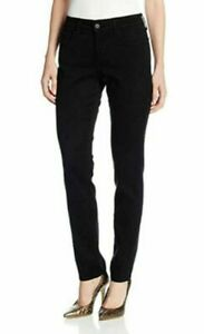 NYDJ Alina Black Leggings/Jeans Lift & Tuck Technology UK Size 8  RP £159.95