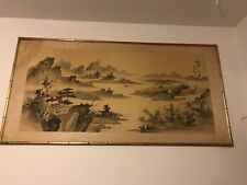 Antique Japanese Painting Framed
