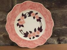 Pretty China Cake / Sandwich Plate in Pink Floral Design with Gilding