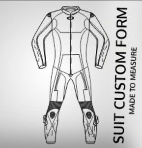 Custom Made Any Design Any Make Motorbike Racing Leather Suit 1 or 2 Piece