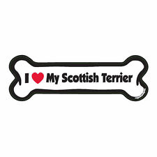 I Love My Scottish Terrier Dog Bone Car Magnet