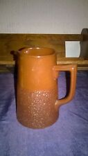 VINTAGE POTTERY MILK/WATER/JUG MADE BY GIBSONS, ENGLAND.BROWN. COTTAGE/PUB/ETC.