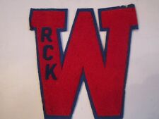 "Vintage Letterman'S Letter ""W"" - Unknown Origin - 8 1/2"" X 8 1/2"" - Tub Ru"