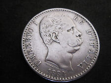 1884R Italy 2 Lire Silver Coin--Umberto I