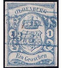 Oldenburg Nr. 12 a gestempelt geprüft