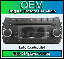 Jeep Wrangler reproductor de CD Bluetooth estéreo de coche, entrada aux 05064925AG + código de radio