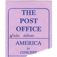 America Concert Ticket Stub Augusta 6/30/90 The Post Office Sister Golden Hair