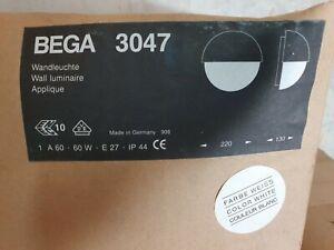 BEGA 3047 33047  Außen Wandleuchte Lampe Weiss / Aluguss max. 60W Neu in OVP !