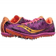 Saucony Shay XC4 X Country Racing Flat Shoes Womens 6 Raspberry Vizi Orange Pink