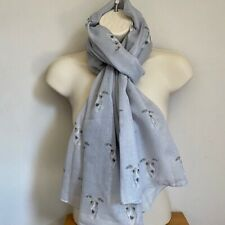 More details for whippet dog print ladies scarf new design shawl wrap lovely gift