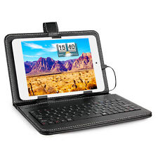 "7.9"" Inch Micro USB Keyboard Keypad Leather Stand Case Cover For Tablet PC USA"