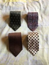 Lot Of 4 Men's Silk Neckties Dior Jos A Bank Robert Talbott Roundtree York