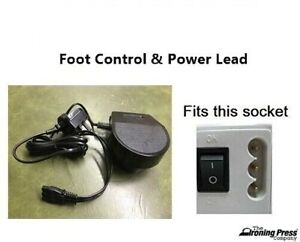 Foot Control & Power Lead TO FIT Janome 3-Pin (Fits Most Janome Sewing Machines)