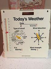 Invicta Plastics Weather Board 1975 Made In England 16 X 16 EUC HTF