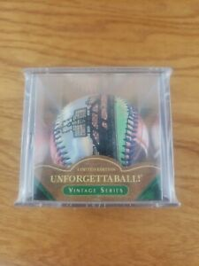 Baseball, Wrigley Field, Unforgettaball by Emily Wolfson in case, Collectable