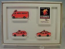 Herpa 1/87 Hetterich Set Interschutz Der rote Hahn Feuerwehr 3 Modelle OVP #580