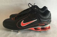 Nike Shox Metal Cleats Shoes Black and Orange Size 12 New