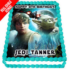 Star Wars Edible Icing Cake Image Personalised A4 Party Decoration Topper