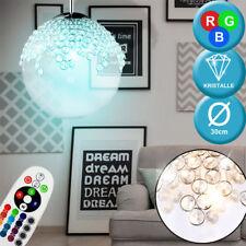 diseño RGB LED Péndulo Luz Cocina Cristal Bola de lámpara CAMBIADOR COLOR