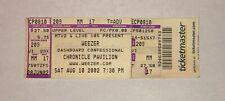 2002 Weezer Dashboard Confessional Concert Ticket Stub Chronicle Pavilion Ca