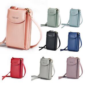 Women PU Leather Crossbody Mini Purse Wallet Mobile Phone Bag Shoulder Pouch US