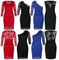 Women Ladies Dress Lace Top Mini Dress Skater Cute Casual Party Dress Size 8-12