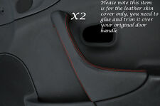 ORANGE STITCH 2X DOOR HANDLE TRIM LEATHER COVER FITS MAZDA MX5 MK2 MIATA 98-05