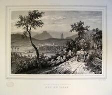 1836 Le Puy-en-Velay Auvergne Haute-Loire France Litho Ansicht von Motte