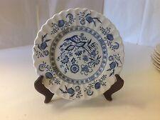 Classic D & G Meakin Blue Nordic  Dessert Salad Pie Plate Vintage Bread England