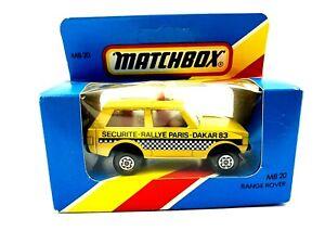 MATCHBOX LESNEY RANGE ROVER MB 20 SECURITE RALLYE PARIS DAKAR 1983 ENGLAND #61A