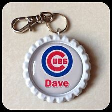Personalized CHICAGO CUBS  Bottle cap, Name Necklace Jewelry Zipper Pull Pendant