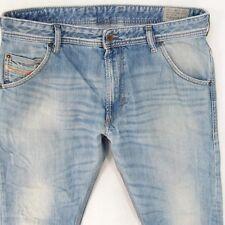Mens Diesel KROOLEY 0816P Regular Slim Carrot Blue Jeans W34 L28