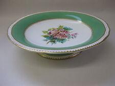 Antique Copeland Tazza / Footed Dish ~ Hand Painted Primulas ~ c.1851 - 1885
