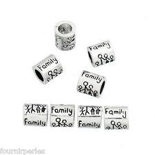 1 Perle FP Intercalaire Européen Family Grand Trou Pour Bracelet Charm 9x8mm