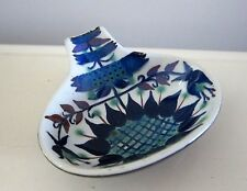 ROYAL COPENHAGEN HAND PAINTED BLUE ON WHITE SPOON REST FAJANCE DENMARK