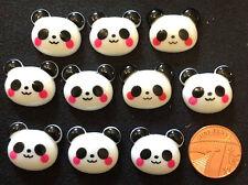 Resin Flatback Kawaii Panda Embellishments 10pk