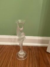Igor Carl Faberge France Snow Dove Bird Crystal Candlestick by Franklin Mint. 1