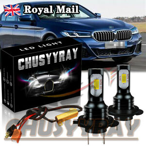 H7 LED Headlight Bulb Replace HID Bulbs Kit CANBUS Error Free for BMW 5 Series