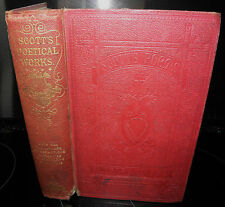 **The Poetical Works Of Sir Walter Scott, 1869 , Adam and Charles, Vintage Book.